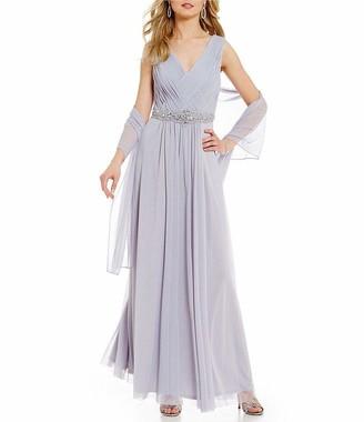 Jessica Howard JessicaHoward Women's Plus Size Basketweave Gown