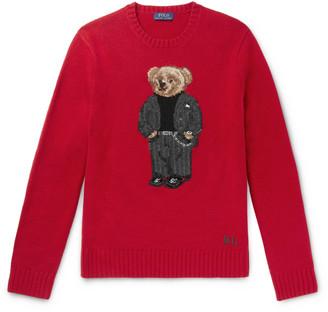 Polo Ralph Lauren Bear-Intarsia Wool Sweater