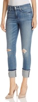 NYDJ Alina Wide Cuff Ankle Jeans in Paloma Rips