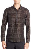 Billy Reid Slim-Fit Long Sleeve Sportshirt
