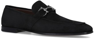 Salvatore Ferragamo Suede Sherman Buckle Loafers