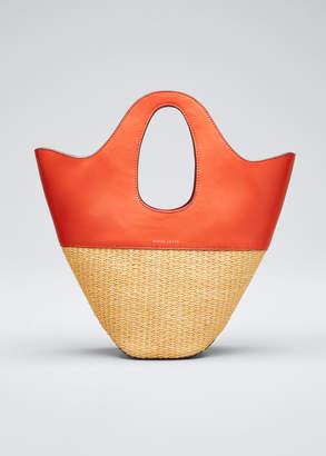 Danse Lente Two-Tone Top Handle Tote Bag, Orange