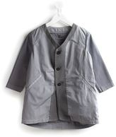 Lost And Found Kids - panelled v-neck jacket - kids - Cotton - 4 yrs