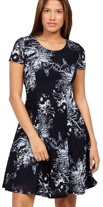 M&Co Izabel abstract tea dress