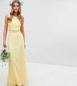 TFNC Embellished Maxi Bridesmaid Dress-Yellow