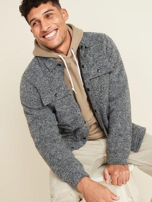 Old Navy Sweater-Fleece Shirt Jacket for Men