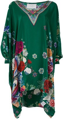 Camilla Emeralds Orbit printed kaftan