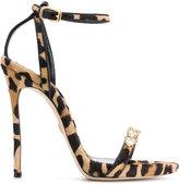 DSQUARED2 embellished leopard print sandals