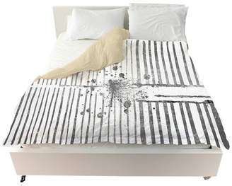 """Oliver Gal Love Force Field Silver"""" Duvet, Queen"""