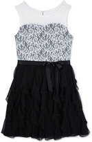 Amy Byer Illusion Lace Dress, Girls (7-16)