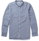 Nonnative Dweller Button-Down Collar Gingham Cotton-Blend Shirt