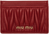 Miu Miu Red Matelassé Card Holder