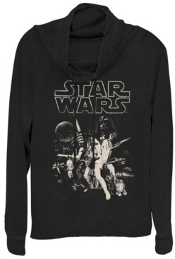 Fifth Sun Star Wars Classic Darth Poster Cowl Neck Sweater
