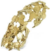 Forzieri Bernard Delettrez Goldtone Butterflies Articulated Bronze Ring