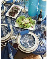 Pottery Barn Tree of Life Menorah Salad Plate, Set of 4