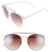 BP Women's 55Mm Round Sunglasses - White/ Gold