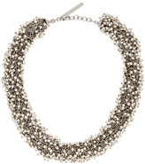 Thumbnail for your product : Dries Van Noten Silver Beaded Necklace