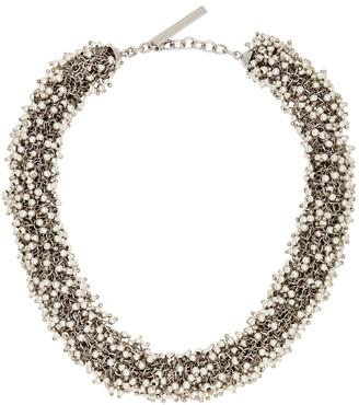 Dries Van Noten Silver Beaded Necklace