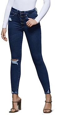 Good American Good Waist High-Rise Skinny Jeans in Blue393