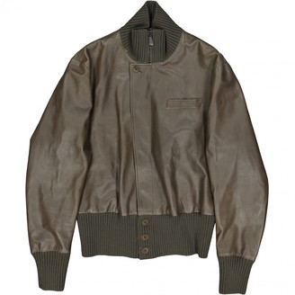 Bottega Veneta Green Leather Jackets