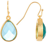 Melinda Maria Shelly Blue Tourmaline Drop Earrings