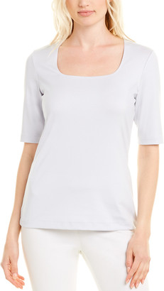 Lafayette 148 New York Square Neck T-Shirt