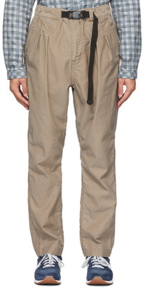 Nonnative Beige Easy Explorer Trousers