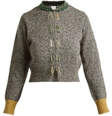Toga Bead-embellished wool-blend cardigan