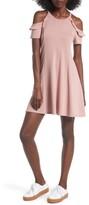 Lush Women's Ruffle Cold Shoulder Dress