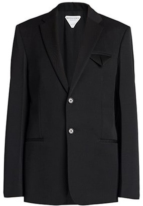 Bottega Veneta Grain de Poudre Wool Jacket
