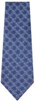 Chanel Vintage Blue Circle Silk Tie