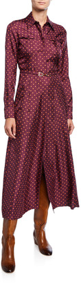 Gabriela Hearst Polka Dot Silk Twill Shirtdress
