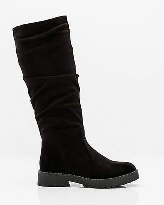 Le Château Knee-High Lug Sole Slouch Boot