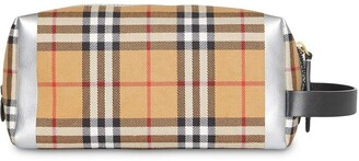 Burberry Metallic Detail Vintage Check Pouch
