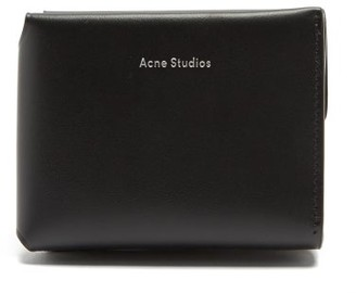 Acne Studios Logo-debossed Tri-fold Leather Wallet - Black