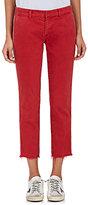 Nili Lotan Women's East Hampton Frayed Stretch-Cotton Trousers