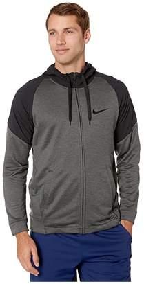 Nike Dry Hoodie Long Sleeve Full Zip Fleece Plus (Black/Heather/Black) Men's Sweatshirt