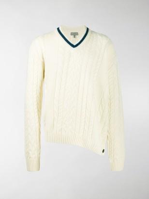 Lanvin asymmetric V-neck jumper