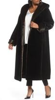 Gallery Plus Size Women's Hooded Full-Length Faux Fur Coat