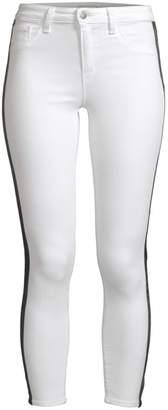 L'Agence Margot High-Rise Tuxedo Stripe Ankle Skinny Jeans