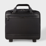 Paul Smith Black 'Jacquard Rabbit' Small Trolley Suitcase