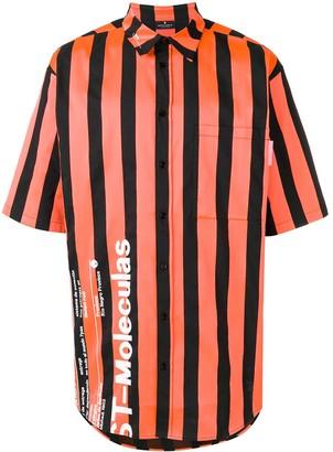 Marcelo Burlon County of Milan Warning striped shirt