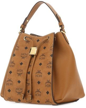 MCM Visetos Motif Bucket Bag