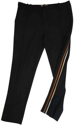 Bouchra Jarrar Blue Wool Trousers for Women