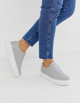 Asos Design DESIGN Diaries sneakers in pale gray
