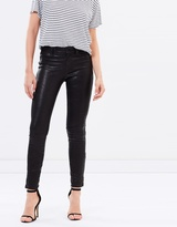 J Brand Leather Mid Rise Skinny