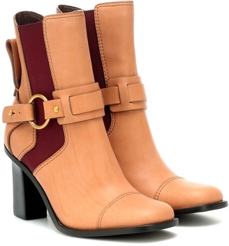See By Chloã© Leather ankle boots