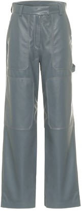 Common Leisure Leather cargo pants
