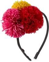 Eugenia Kim Lorelei Grosgrain Pompom Headband, Black