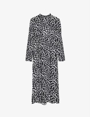 Topshop Open-back woven midi dress